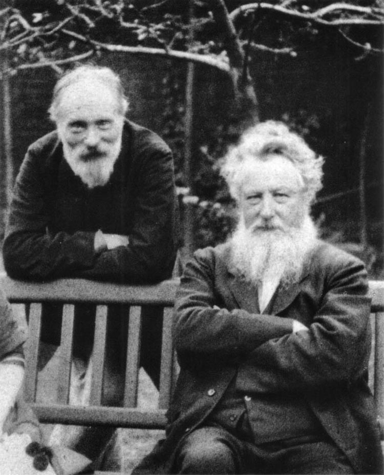 Frederick Hollyer Burne-Jones and Morris 1890
