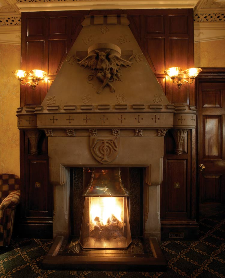 Fireplace at Oakwood Hall, Bingley