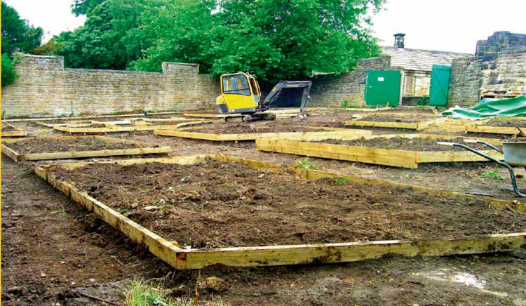 The new planting beds